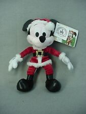 Mickey Mouse 9 Inch Retro Christmas Mini Bean Bag Plush Disney Parks NEW NWT