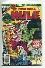 (1962 SERIES) MARVEL THE INCREDIBLE HULK ANNUAL #6 - 1ST PARAGON HER GOTG F/VF