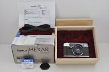 Konica HEXAR Rhodium 35mm Rangefinder Film Camera 35mm F2 Lens with Box #161124l