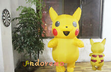 Pokémon Adult Pikachu Inflatable Costume Cosplay Halloween Funny Dress Outfit