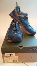 Keen Marshall Men US 8 Teal Blue & Amber Hiking Shoe Pre-Owned  Great Shape!