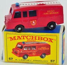 Matchbox 57 Land Rover Fire Truck in E- Box OVP Modellauto 60er Lesney 03-B-M9