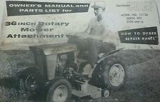 Jacobsen Chief Lawn & Garden Tractor 10136 Mower Deck Owners & Parts Manual 10pg
