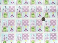 Princess and frogs fabric 1 metre x 112CM 100% Cotton  F7886