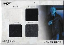JAMES BOND AUTOGRAPHS & RELICS SQC2 DANIEL CRAIG SHANGHAI QUAD COSTUME 043/200