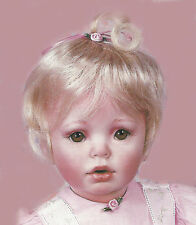 "NEW 14"" BABY PINK SHAY SEATED DONNA RUBERT PORCELAIN DOLL ARTWORKS PRODUCTION"