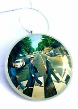 """THE BEATLES 2"""" Round Glass Christmas Ornament"""
