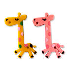 2x Cute Giraffe Earphone Headphone Cable Cord Wrap Rubber Yellow Pink