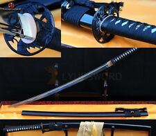 HANDMADE FOLDED STEEL FULL TANG VERY SHARP BLADE JAPANESE SAMURAI KATANA SWORD