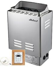 9KW,Sauna Heater Stove, Wet&Dry, Stainless Steel, Digital Control, Free Shipping