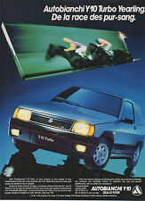 Publicité Advertising 1986  AUTOBIANCHI Y10 Turbo Yearling