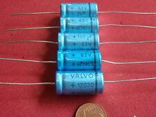 KONDENSATOR HOCHVOLT org. *VALVO 100µF 63V= axial D12 x 24mm   6x         24237