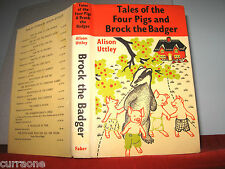 Alison Uttley TALES OF THE FOUR PIGS AND BROCK THE BADGER 1965 hcdj Alex Buckels
