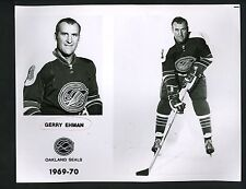 Gerry Ehman 1969 team issued Press Photo Oakland Seals