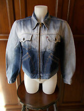 Levi's women's CROPPED DENIM Jacket Giacca Donna Tg L red tab jeans LEVIS