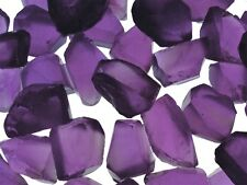 """25 cts Deep Amethyst Facet Rough - """"AAA"""" Grade Sawn Material - avg 15-20 cts/pc"""
