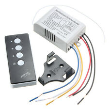 220V Wireless ON/OFF 3 Way Lamp Light Remote Control Switch Receiver Transmitter