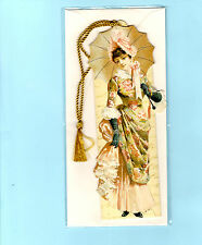 3D Bookmark Victorian Lady Umbrella Popup Greeting Card Birthday Xmas Gifts Her
