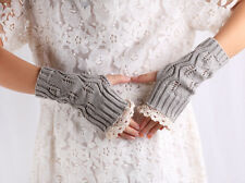 Women Fashion Gloves Hollow Out Lace Knitted Gloves  NEW