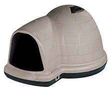 Petmate Indigo Outdoor DOG HOUSE, Medium Size Vented DOG IGLOO, Taupe Black