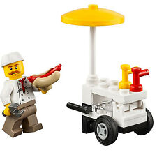 LEGO Hot Dog Vendor and Cart From 60134 Fun in the Park