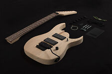 DIY 7 String Electric Guitar Kit Project Bolt-On Solid Mahogany Body & Neck