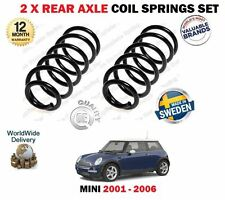 FOR BMW MINI R50 R53 ONE COOPER 1.4D 1.6 2001-2006 NEW 2 X REAR COIL SPRINGS SET