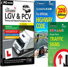 LGV HGV PCV DSA DVSA THEORY + HAZARD TEST PC DVD CD 2016 HW Code & Signs Book