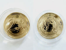 Latvia Milda 2014 Currency coin gold plated 24 Carat proof with certificate