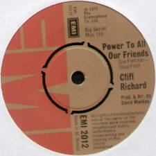 "CLIFF RICHARD~POWER TO ALL OUR FRIENDS / COME BACK BILLIE JO~1973 UK 7"" SINGLE"