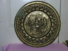Vintage Peerage Brass Wall Plate Decor Made In England 12""