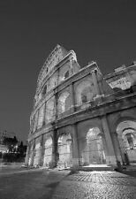 B & W Print Of The Colosseum In Rome Italy. Art & Photography Poster Picture