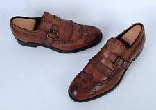 NEW!! Boemos Monk Strap Kiltie Loafer- Brown- Size 9 US/ 42 EU  $350  (TB9)