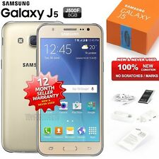 New Sealed Unlocked SAMSUNG Galaxy J5 J500F Gold 4G LTE Android Mobile Phone