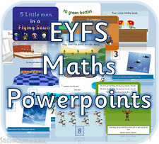 EYFS MATHS Number Early Years Reception SEN powerpoint teaching resources on CD