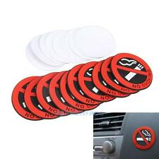 10PCS No Smoking Warning Signs Decal Rubber Stickers 50mm Car Home Door Window