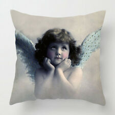 Vintage angel cherub magical cushion