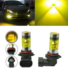 Pair 4300K Yellow H11 H8 Fog Light SAMSUNG 2323 LED 100W Driving Projector Bulbs