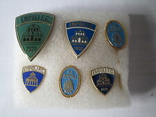 lotto 6 pins lot EMPOLI FC club spilla football calcio soccer futbol spille