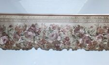 1 Roll of Prepasted Embossed Flowers pattern Wallpaper Border Gold 65127DC /BB12