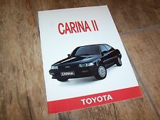 Catalogue /  Brochure TOYOTA Carina II 1988 //