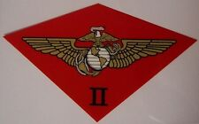 Window Bumper Sticker Military Marine 2nd Second Air Wing NEW Decal