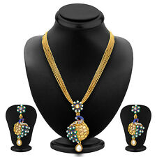 Sukkhi Incredible Pecock Gold Plated Pendant Set For Women 4159PSGLDPP1000