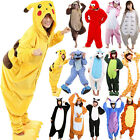 Anime Onesie Pikachu Pokemon Totoro Stitch Cosplay Costume Pajamas Sleepwear