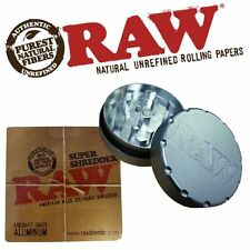 RAW Super Shredder Grinder Rolling Papers Herb Weed Tobacco Grinder 2 Part Metal