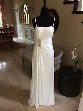 $250 NWT DAVE AND JOHNNY IVORY PROM/PAGEANT DRESS/GOWN 2 #8556