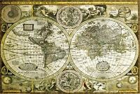 HISTORICAL WORLD MAP POSTER - 24x36 SHRINK WRAPPED - GEOGRAPHY GLOBE 33762