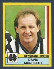 PANINI FOOTBALL 87-#192-NEWCASTLE & NORTHERN IRELAND-QPR-MAN UTD-DAVID McCREERY