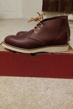 Red Wing chukka Copper Worksmith uk7 BNIB Made in USA