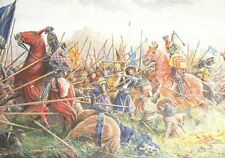 Scottish Medieval Military Art Post Card  Robert the Bruce Battle of BANNOCKBURN